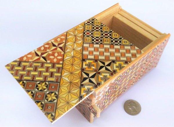 Photo1: 14 steps Yosegi 5 sun Japanese puzzle box Himitsu-bako 4580685045023 (1)