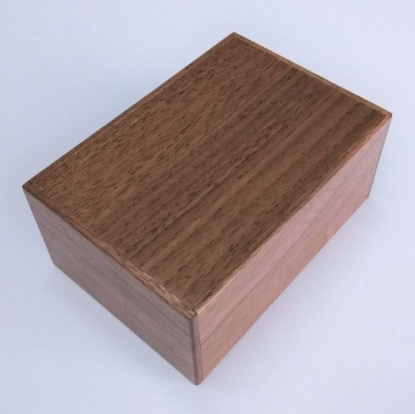 Photo1: 14 steps Natural Walnut wood 4 sun Japanese puzzle box Himitsu-bako (1)