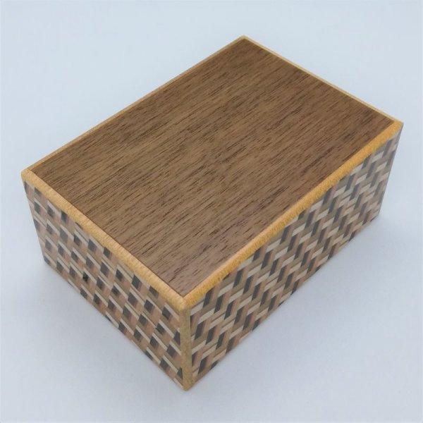 Photo1: 12 steps Walnut wood / Kuzushi 4 sun Japanese puzzle box Himitsu-bako 4580685044118 (1)